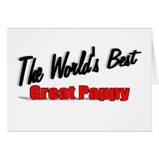 El mejor gran Pappy del mundo Tarjeta De Felicitación