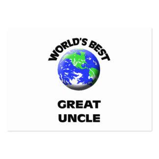 El mejor gran tío del mundo plantillas de tarjetas de visita