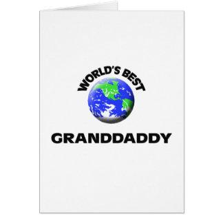El mejor Granddaddy del mundo Tarjeta De Felicitación