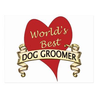 El mejor Groomer del perro del mundo Postal
