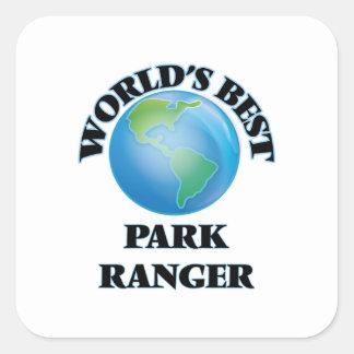 El mejor guarda del parque del mundo pegatina cuadrada