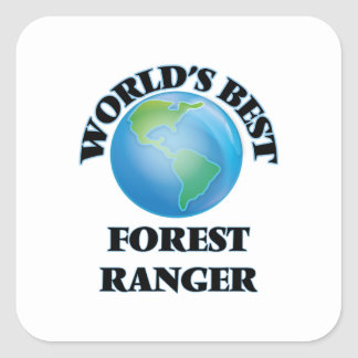 El mejor guardabosques del bosque del mundo calcomanía cuadrada