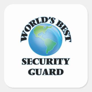 El mejor guardia de la seguridad del mundo colcomanias cuadradas