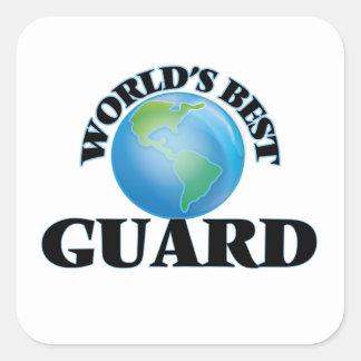 El mejor guardia del mundo colcomanias cuadradass