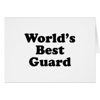 El mejor guardia del mundo tarjeta de felicitación