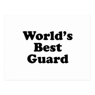 El mejor guardia del mundo tarjeta postal