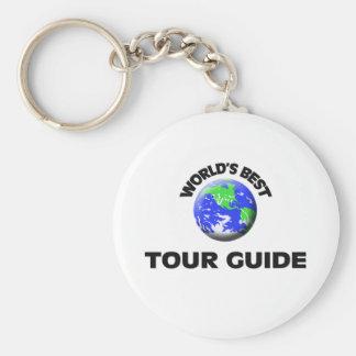 El mejor guía turístico del mundo llavero redondo tipo pin