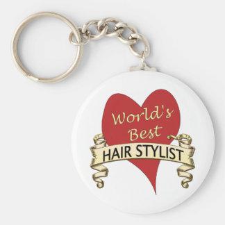 El mejor Hairstylist del mundo Llavero Redondo Tipo Pin