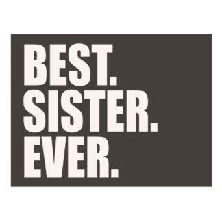 El mejor. Hermana. Nunca Postal