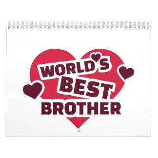 El mejor hermano del mundo calendario de pared