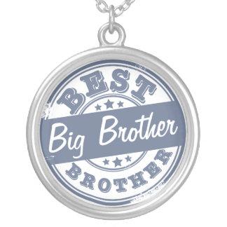 El mejor hermano mayor - efecto del sello de goma colgante redondo