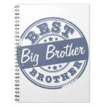 El mejor hermano mayor - efecto del sello de goma  libro de apuntes
