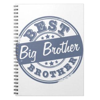 El mejor hermano mayor - efecto del sello de goma  note book