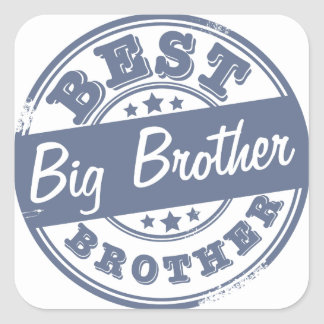 El mejor hermano mayor - efecto del sello de goma pegatina cuadrada