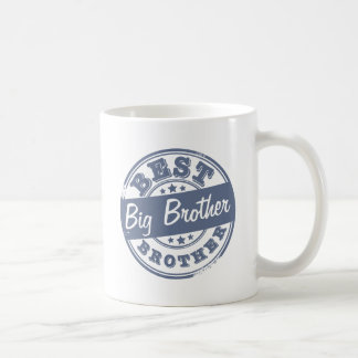 El mejor hermano mayor - efecto del sello de goma taza básica blanca
