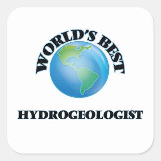 El mejor hidrogeólogo del mundo pegatina cuadrada