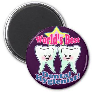 El mejor higienista dental de los mundos imán redondo 5 cm