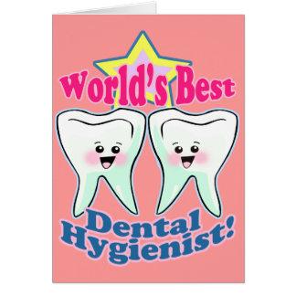 El mejor higienista dental de los mundos felicitaciones