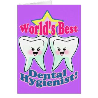El mejor higienista dental de los mundos tarjetón