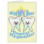 El mejor higienista dental de los mundos tarjeta de felicitación