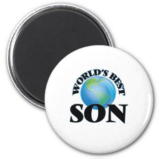 El mejor hijo del mundo imán redondo 5 cm