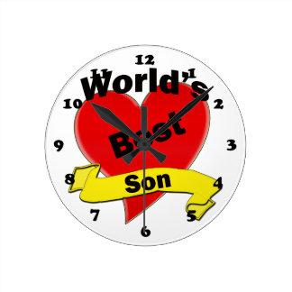 El mejor hijo del mundo reloj redondo mediano
