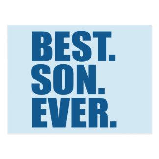 El mejor. Hijo. Nunca. (azul) Postal
