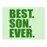 El mejor. Hijo. Nunca. (verde) Postal