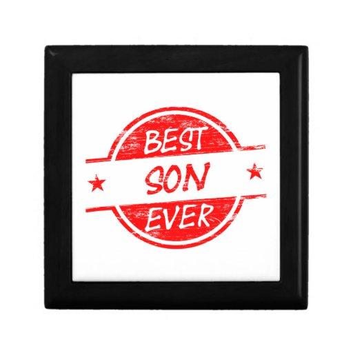 El mejor hijo siempre rojo caja de regalo