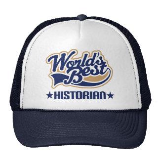El mejor historiador de los mundos gorras de camionero