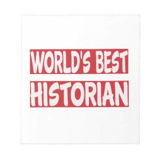 El mejor historiador del mundo blocs de papel