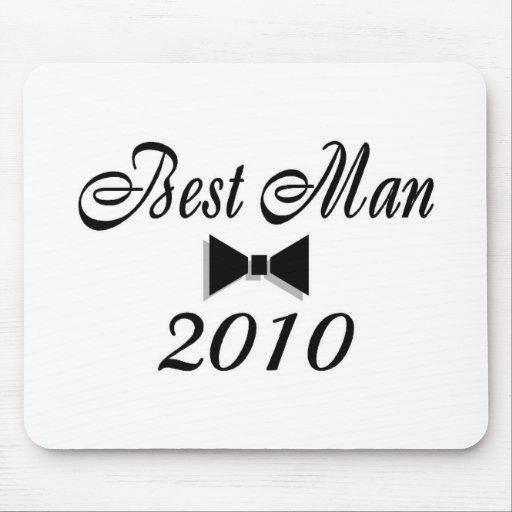 El mejor hombre 2010 (Bowtie) Tapetes De Raton