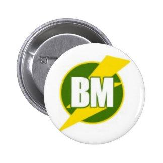 El mejor hombre B/M Pin Redondo De 2 Pulgadas