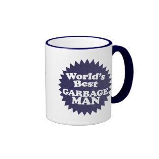 El mejor hombre de la basura del mundo taza a dos colores