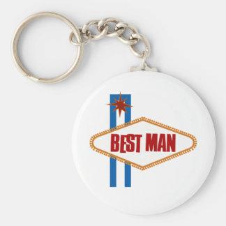 El mejor hombre de Las Vegas Llavero Redondo Tipo Pin