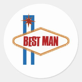 El mejor hombre de Las Vegas Pegatina Redonda