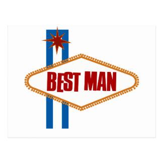 El mejor hombre de Las Vegas Tarjeta Postal