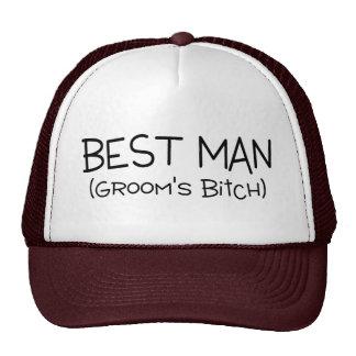 El mejor hombre de los novios gorros bordados