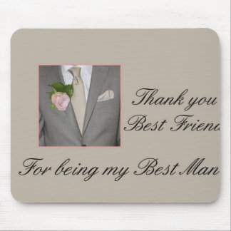 el mejor hombre del mejor amigo le agradece tapete de ratón