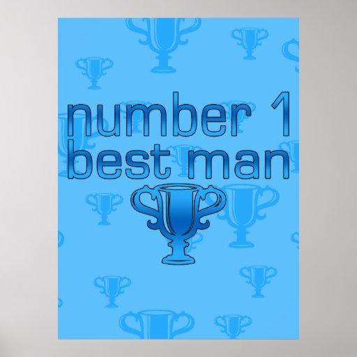 El mejor hombre del número 1 posters