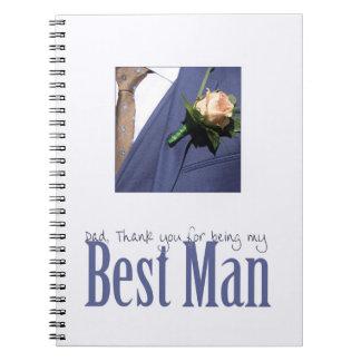 El mejor   hombre del papá le agradece cuadernos