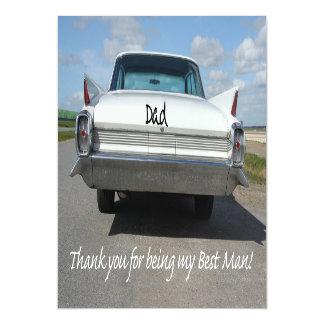El mejor   hombre del papá le agradece invitaciones magnéticas