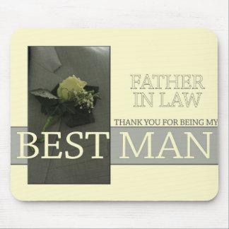 El mejor hombre del suegro le agradece tapetes de ratones