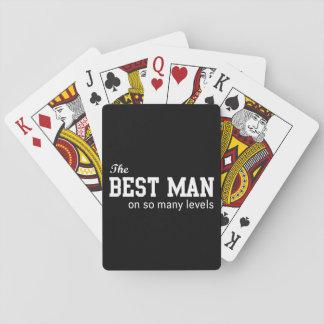 El mejor hombre en tan muchos niveles cartas de juego