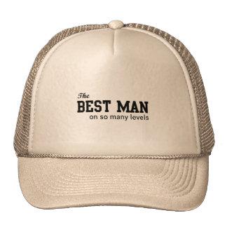 El mejor hombre en tan muchos niveles gorras