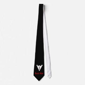 El mejor hombre en Tux Corbatas Personalizadas
