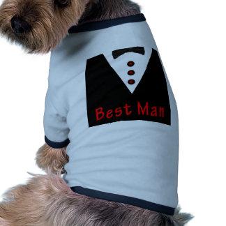 El mejor hombre en Tux Camisas De Perritos