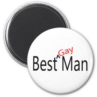 El mejor hombre gay imán redondo 5 cm