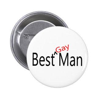 El mejor hombre gay pin redondo de 2 pulgadas