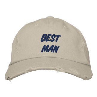 El mejor hombre gorra de béisbol bordada